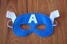 Captain America Mask / Costume - Felt Superhero Mask / Dress up Captain America Party, Captain America Birthday, Diy Captain America Costume, Costume Garçon, Thor Costume, Boy Costumes, Super Hero Costumes, Capitan America Mascara, Ideas Party