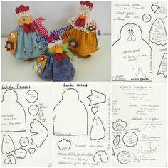 http://www.creativaclub.it/freeforyou/PATCHWORK_ROOSTER.pdf http://www.lapecountrydesigns.com/search/label/tutorial