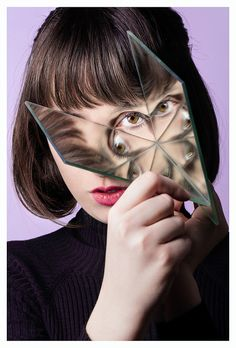 Valerie Kaczynski - mirror portrait photography reflection face eyes