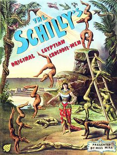 The Schilly's.  Original Egyptain Crocodil-Men.  1886