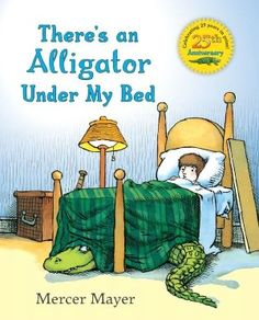 The nightmare's gone, but what about that alligator? You have to be so careful getting in and out of bed! Maybe a midnight snack to lure him into the garage will do the trick. In this funny and beloved follow-up, Mercer Mayer faces another nighttime fear head-on.    The alligator under his bed makes a boy's bedtime hazardous operation, until he lures it out of the house and into the garage.