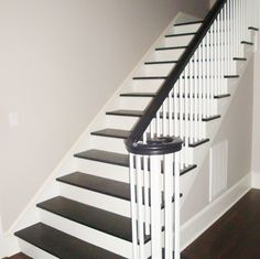 Black painted stairs - they show the dirt, but I love them anyway.