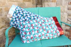 Make super soft pillow cases for them to rest their little heads on this Christmas!