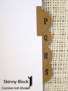 Kraft Alphabet Sticker Tab Labels for Address door CactusScraps, $6,00