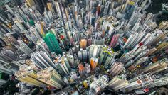 Astounding Bird's-Eye View of Hong Kong's Colorful Urban Jungle - My Modern Met