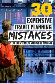 A massive list of expensive travel mistakes you didn't know you were making and how to avoid them. Plan your intinerary and avoid tourist scams and mistakes for your perfect trip. Travel longer, cheaper, better with this travel guide. Travel Advice, Travel Guides, Travel Hacks, Travel Packing, Packing Tips, Travel Backpack, Cheap Travel, Budget Travel, Travel Plan