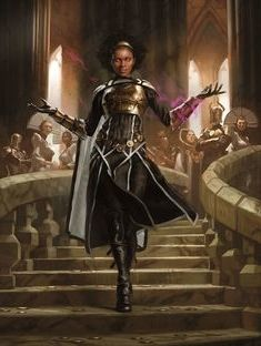 MtG Art: Kaya, Orzhov Usurper from Ravnica Allegiance Set by Yongjae Choi - Art of Magic: the Gathering Black Characters, Dnd Characters, Fantasy Characters, Female Characters, Black Girl Art, Black Women Art, Black Art, Fantasy Inspiration, Character Design Inspiration