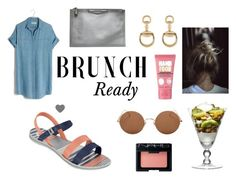 """""""Brunch Ready ~"""" by zaxyshoes-co-uk ❤ liked on Polyvore featuring Madewell, Sunday Somewhere, Soap & Glory, Givenchy, NARS Cosmetics and Gucci"""