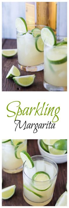 Sparkling Margarita- A delicious and easy margarita made with fresh lime juice, pure cane sugar simple syrup, and club soda to add a fizzy taste. Try it out!