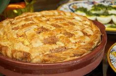 Pizza rustica (Easter Cheese and Salumi Pie).A Savory Rustic Pie made of flake pastry crust with a filling of eggs,cheese and cured meats. Calzone, Stromboli, Italian Dishes, Italian Recipes, Italian Cooking, Easter Pie, Easter Food, Hoppy Easter, Easter Dinner