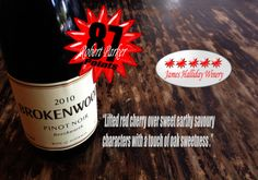 Brokenwood Pinot Noir. A stunning Pinot Noir at an outstanding price. #pinotnoir Get it here: http://www.halfbottles.com.au/red_wine/brokenwood_pinot_noir_2013_375mL