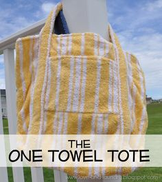 The One-Towel Tote (tutorial) - Perfect for taking to the swimming pool!