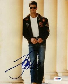 TOM CRUISE TOP GUN MAVERICK SIGNED AUTHENTIC 8X10 PHOTO CERTIFICATE OF AUTHENTICITY PSA/DNA #U25007 on Wanelo