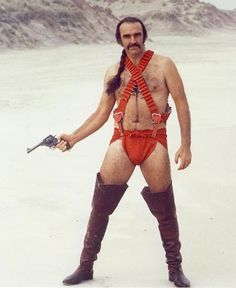 Sean Connery with hair | zardoz-sean-connery-red-leather-panties-long-hair