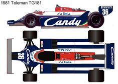 1981 Toleman TG181 formula 1 Ground Effects, Technical Illustration, Mclaren Mp4, F 1, Formula One, Sport Cars, Auto Vintage, Automobile, Blue Prints