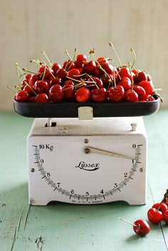 vintage scale with cherries!!