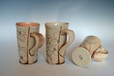 hand built dogwood cups.    These are so gorgeous ... and the workmanship is just so great !!!