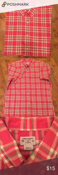 J. Crew button down Spring is just around the corner. J. Crew button down. Short sleeve in excellent condition. Size L J. Crew Shirts Casual Button Down Shirts