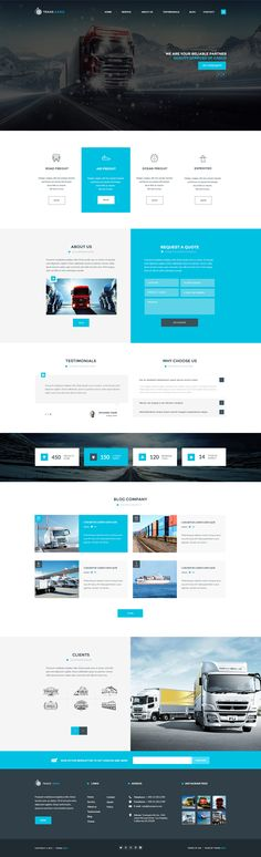 TransAero - Transport & Logistics PSD Template