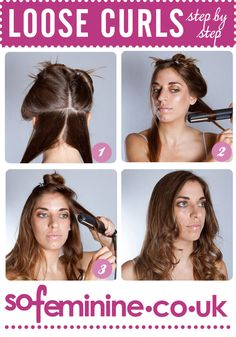 How to do a loose curled hairstyle