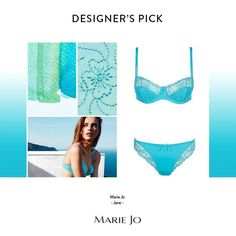 Do you know Jane?  Marie Jo refreshes a favourite in vivid shades of aquamarine.