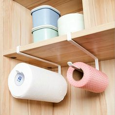 Keep kitchen counter clutter free by hanging any rolls (paper towel, trash bags etc) inside/under or over the cabinet. Also helps keep little children from wasting paper towels. - Keep paper towels within reach and off the countertop - Size: 26*1.2*10.8cm/10.2*0.47*4.25inch - FREE Shipping Included - Shop with confidence
