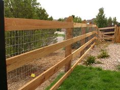 3 Board Fence With Wire Fencing Amp Gates Pinterest