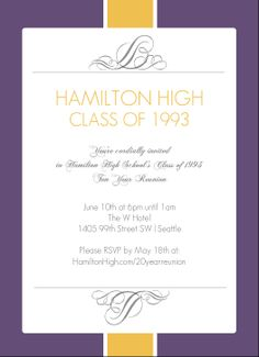 Class Reunion Invitation Inspiration