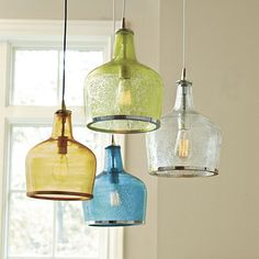maybe these in clear over my kitchen island...