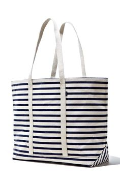 Striped canvas tote...