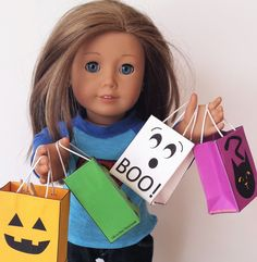 Halloween Trick- or -Treat Bags For American Girl Dolls