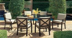 Home Decor Lovely Patio Furnitures With Bamboo Furniture Outdoor Sales Denver Toronto Tasty - Is your home feeling a little dated? Outdoor Furniture Stores, Dining Room Furniture, Garden Furniture, Furniture Vintage, Wicker Furniture, Room Chairs, Vintage Patio, Shabby Chic Table And Chairs, Patio Design
