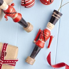 Wooden Soldier Christmas Tree Decoration. Have a truly traditional Christmas this year with these nutcracker style wooden soldier Christmas tree decorations.