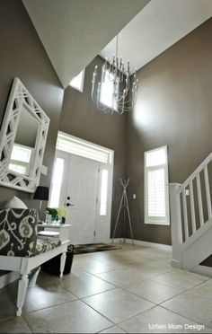 Diaries of an Interior Design Mom! Foyer, New Homes, Mirror, Interior Design, House, Furniture, Home Decor, Nest Design, Home Interior Design