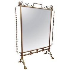 French Mirrored Fire Screen in the Style of Raymond Subes ($3,500) ❤ liked on Polyvore featuring home, home decor, fireplace accessories and fireplace screens & fenders