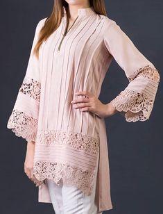 Best 11 Pastel shade with white trouser – SkillOfKing. Pakistani Fashion Casual, Pakistani Dresses Casual, Pakistani Dress Design, Casual Dresses, Pakistani Bridal, Sleeves Designs For Dresses, Dress Neck Designs, Blouse Designs, Stylish Dresses For Girls