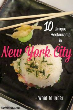 With endless choices of food in NYC, where do you start? Where do you go for something different and what do you order? It can be overwhelming, but this list of unique restaurants in new york city is exciting and has something for everyone! #foodie #restaurants #eats #treats #nyc #newyorkcity #newyork #travel