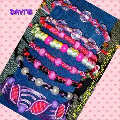 #macrame #pulseras #diy #handmade #bracelet Bubble gum collection!