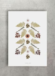 v.4 botanical poster |  www.thewallshop.co