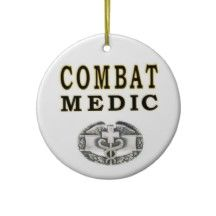 US ARMY COMBAT MEDIC CHRISTMAS TREE ORNAMENTS
