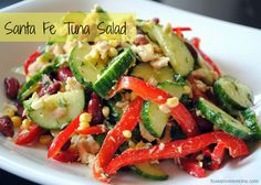 Santa Fe Tuna Salad - An easy cold salad for lunch or a light dinner in the summer.
