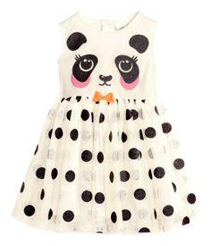 panda party dress! $18  | H&M US Panda Themed Party, Panda Birthday Party, Panda Party, Bear Party, 9th Birthday, Birthday Ideas, Girls Party Dress, Girls Dresses, Party Dresses