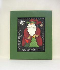 Get Ready, Santa's Coming! by Rita Blanchard on Etsy #primitive Santas