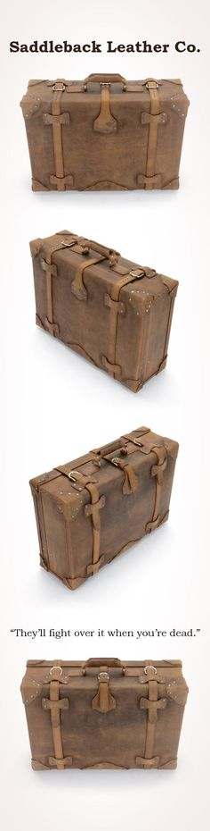 The Saddleback Leather Classic Suitcase in Tobacco | 100 Year Warranty | $1055.00
