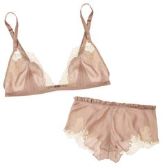 Carine Gilson~ Silk Crepe de Chine bra & French briefs