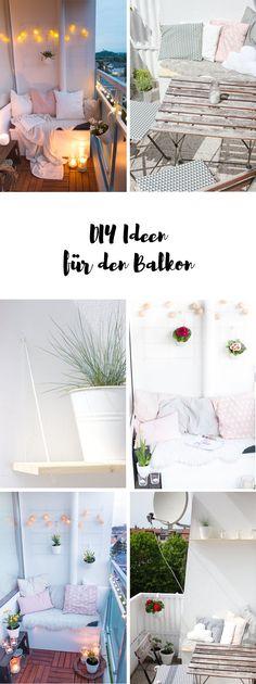 DIY Ideen für den Balkon - Dekoration, Möbel und Pflanzen