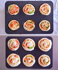 Easy pizza roll recipe using muffin mold- マフィン型を使った、簡単ピザロールレシピ Easy pizza roll recipe using muffin mold Pizza Cartoon, Pizza Casserole, Pizza Rolls, Low Carb Pizza, Asian Desserts, Recipe Using, Bread Recipes, Muffin, Food And Drink