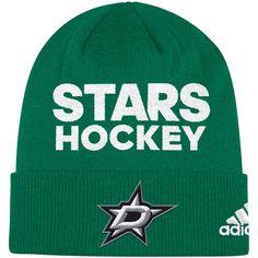 6f33d330108 Men s Dallas Stars adidas Kelly Green Locker Room Cuffed Knit Hat