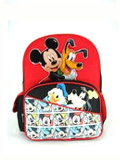 "Backpack - Disney - Mickey Mouse w/ Friends 16"" (Large School Bag) - Best Backpacks Online"