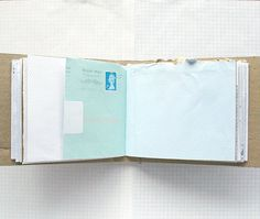Mail Book Recycled Paper Notebook Mail Art by badbooks on Etsy